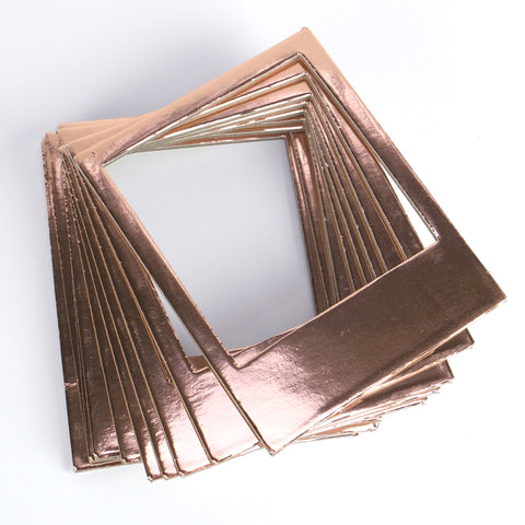Instant Photo Frames - Rose Gold Metallic Card - Set of 10 - SweetpeaStore