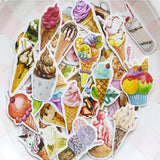 Set of 50 Sweet Ice-Cream Dessert Mini Box Stickers - SweetpeaStore