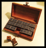 Vintage-Style Wooden LOWER CASE ALPHABET Rubber Stamp Kit - SweetpeaStore