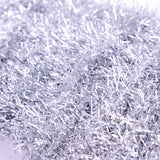Silver Christmas Skinny Mini Tinsel - Simply Creative Basics - 3m x 1.5cm - SweetpeaStore