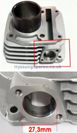 Genuine Cylinder Front Hyosung (new model) GV250