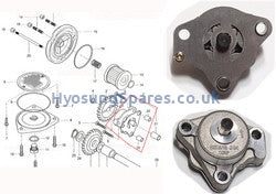 Hyosung Genuine Oil pump Assembly GT250/GT250R/GV250