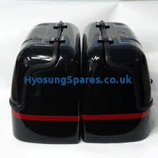 Hyosung New Hard Trunk Saddlebags (Black) GV250
