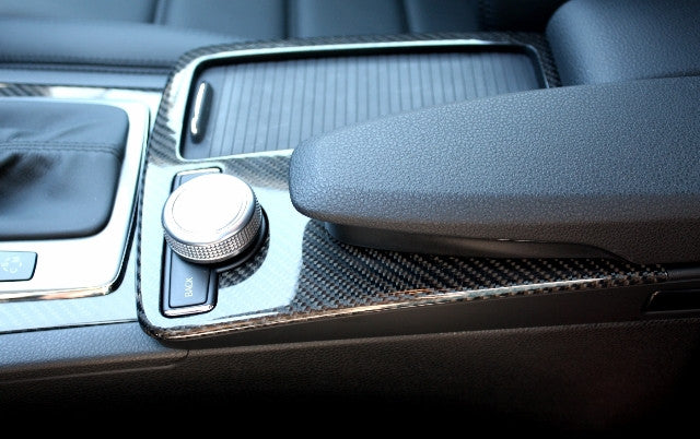 W204 C Class Centre Upper console Carbon fibre European models