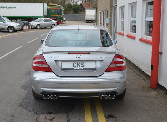 W209 CLK Coupe Quad tailpipe exhaust - all mod incl. CLK55