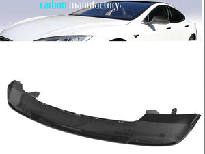Carbon fibre Rear bumper lower portion Gloss finish Tesla S from 06/2012