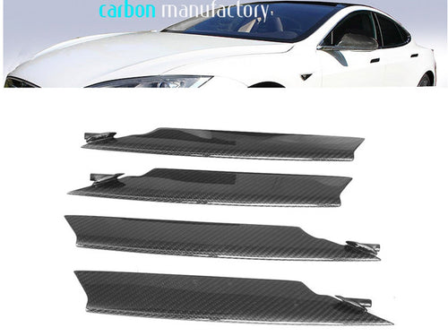 Carbon fibre bumper fins Gloss finish Tesla S from 06/2012