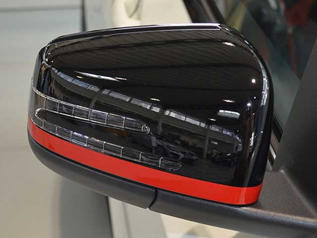 AMG Edition 1 Mirror Caps Red Film Set Stripes
