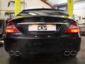 CKS W219 CLS Sport Quad Tailpipe Exhaust with 4 x AMG Style Oval tailpipes