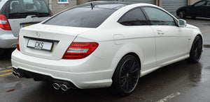 4 pipe exhaust mercedes C Class