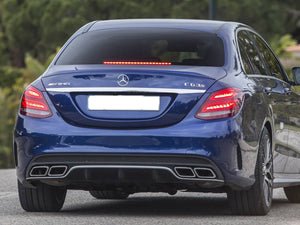 AMG C63 Diffuser & Exhaust Tailpipes Package W205 S205