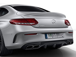 C205 C Class AMG Line C63 Coupe Rear Diffuser & Tailpipes Night Package