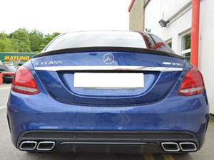 AMG C63 W205 Carbon Fibre Boot Trunk Spoiler Saloon