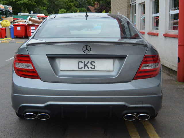 Mercedes W204 Quad Exhaust