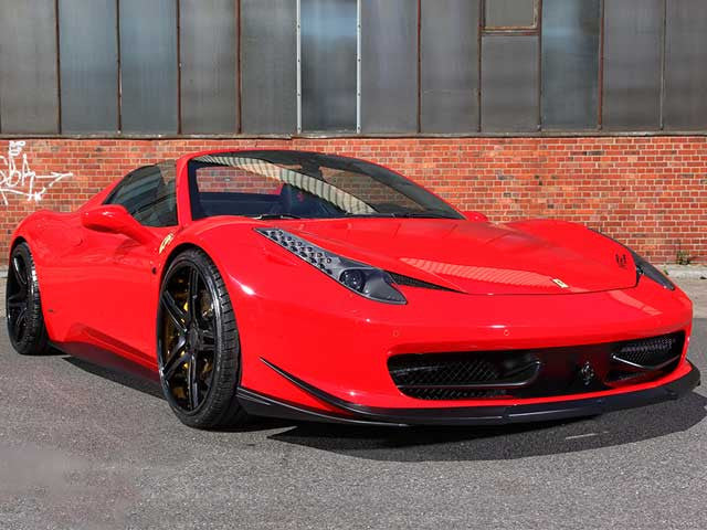 MEC Design Ferrari 458 Front spoiler lip 3 piece Paintable
