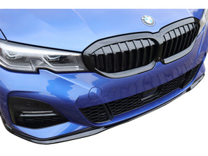 BMW 3 Series G20 M Performance Package Front Splitter Set 3pcs Gloss Black