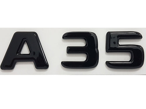 A35 badge emblem Gloss Black