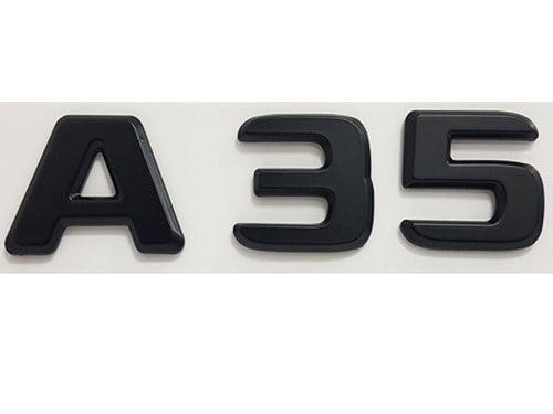 A35 badge emblem Matt Black