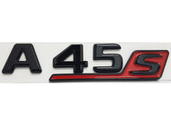 A45 S emblem Gloss Black with Red
