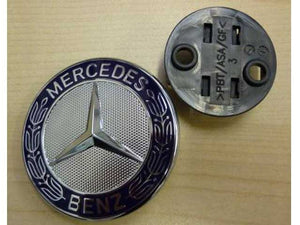 Mercedes flat bonnet hood badge