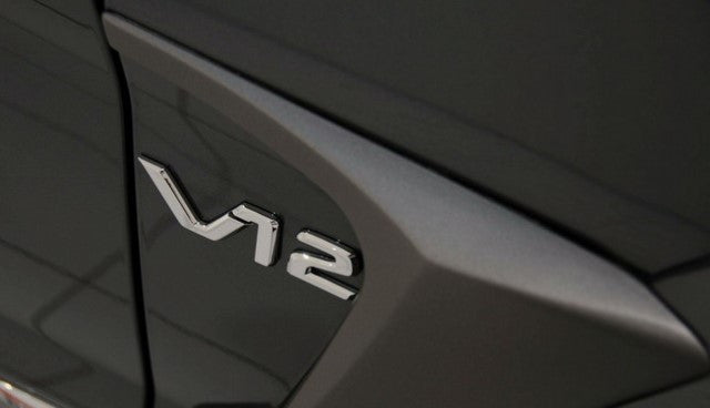 V12 Chrome badges for wing or bootlid - set