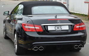 CKS W207 E Class Coupe Cabriolet Sport Exhaust with 4 x AMG Style Oval tailpipes