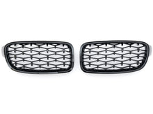 Load image into Gallery viewer, BMW F30 F31 3 Series Kidney Grilles Black Diamond Grilles