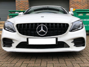 AMG C63 Panamericana Grill 2019 Design Grille Gloss Black MODELS FROM JULY 2018