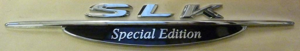 SLK Special Edition badge - Genuine