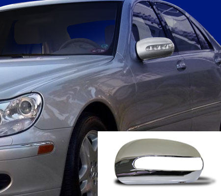 W220 S Class chrome mirror covers from 10/2002