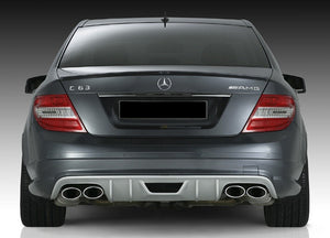 W204 C63 RS Rear Diffuser for AMG rear bumper Saloon - 4 pipe