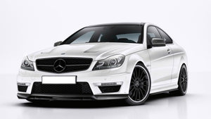 W204 C Class C63 Carbon fibre Front Spoiler lip from 04/2011