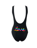 Rainbow Smiley Classic Swimsuit Lalalove Packshot Back