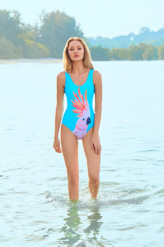 Space Peacock Swimsuit
