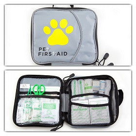 34 Piece Pet First Aid Kit with Styptic Powder