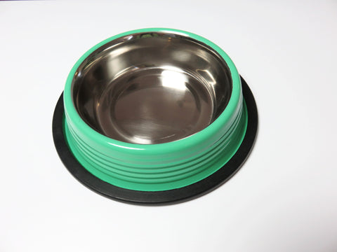 Irish Green Ribbed Cat and Dog Bowls