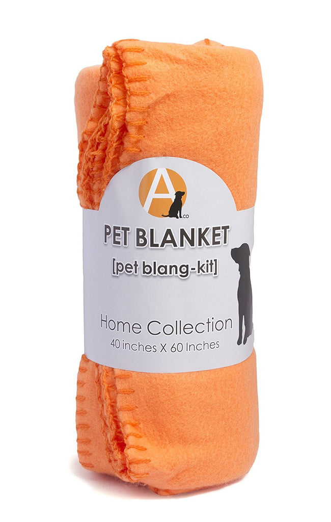 Dog Travel Blanket, Orange Fleece