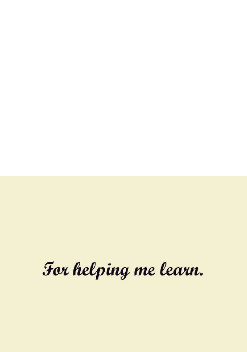 Learning Help Thank You