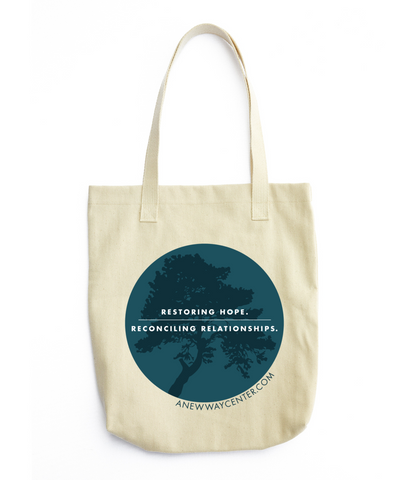 Restoring Hope. Reconciling Relationships. – Canvas Tote