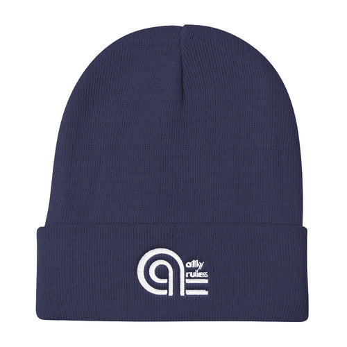 A11y Rules Blue Knit Beanie