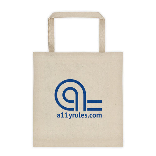 A11y Rules cotton tote bag