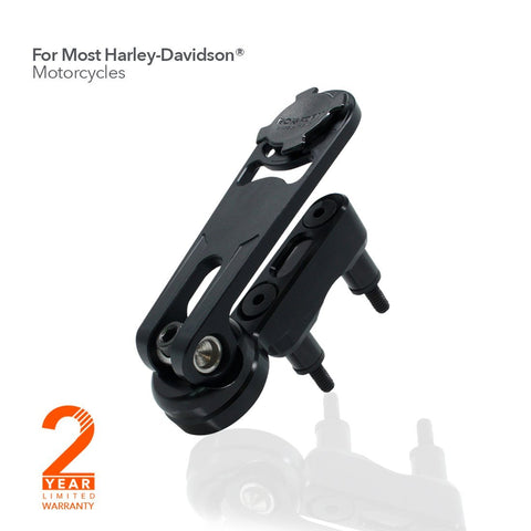Rokform Motorcycle Perch Mount (Harley Davidson Levers) for iPhone & Galaxy phones - Black