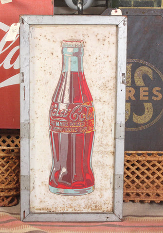 Early Rustic Coca Cola Bottle Sign
