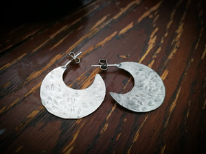 Crescent Moon Hoop | Earrings Currently Sold out