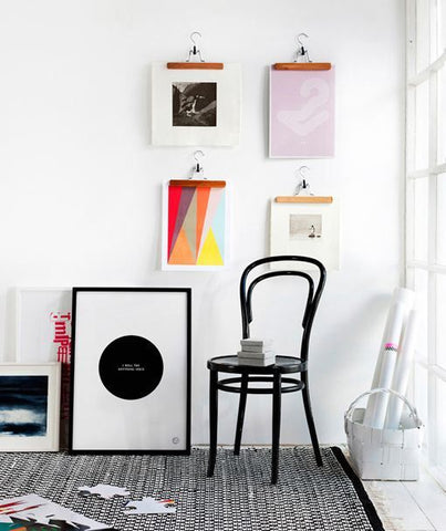 Planete Deco inspiration to hang prints