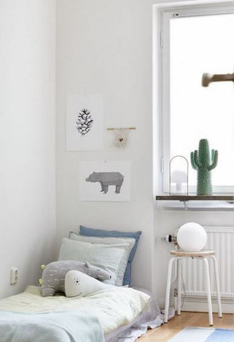 All white kid room from Petit and Small