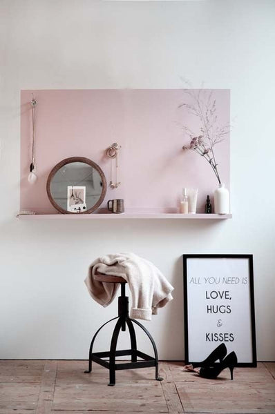 Color Block Shelf Headboard by Apartment Therapy