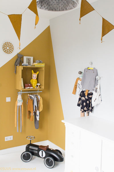 Color Block Wall Mustard Corner by La La Lovely Thing