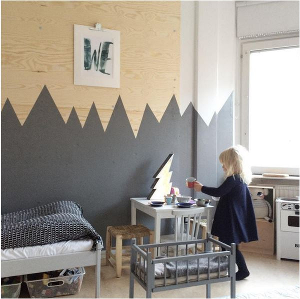 Color Block Zig Zag Wall by The Boo and The Wall