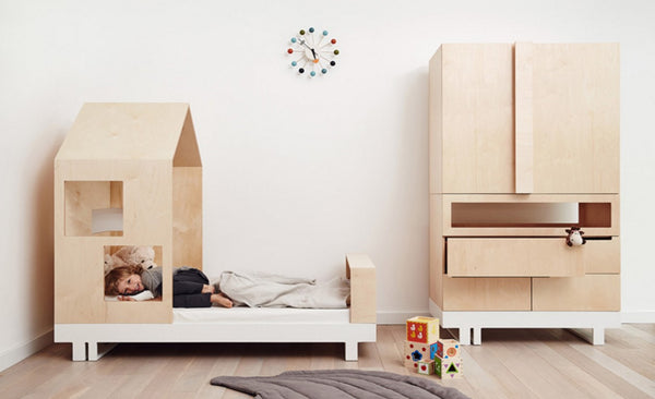 Kutikai Kids Furniture The Roof Collection toddler bad and dresser